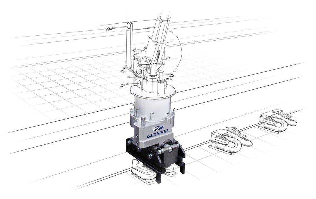 Portable clipper for fastclip - Mediaa Rail